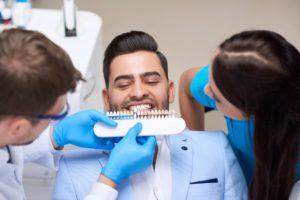 Young man visiting dentist